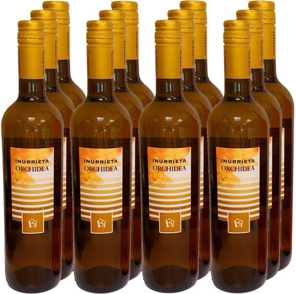 12 Flaschen Inurrieta Orchidea Sauvignon Blanc 2019 (Weißwein) (mit Schraubverschluss)
